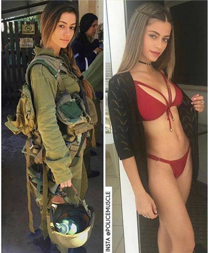 이스라엘 여군 반전 몸매