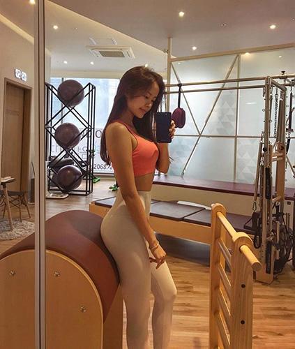 김주희, 필라테스로 가꾼 완벽 몸매