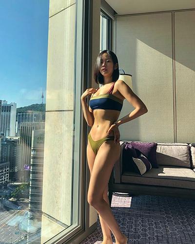 김주희, 햇볕 받은 무결점 몸매