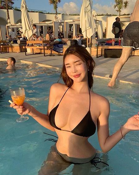 최인혜, 발리를 빛낸 역대급 몸매