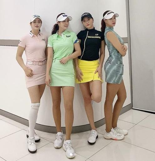위풍당당, K-미녀 골퍼들의 각선미 자랑