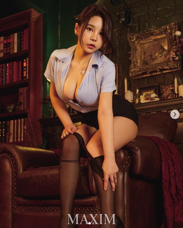 '100만 팔로워' 모델 쮸리, 맥심서 섹시 오피스룩 화보
