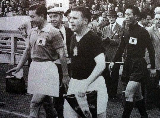 한국과 경기할 당시의 푸스카스